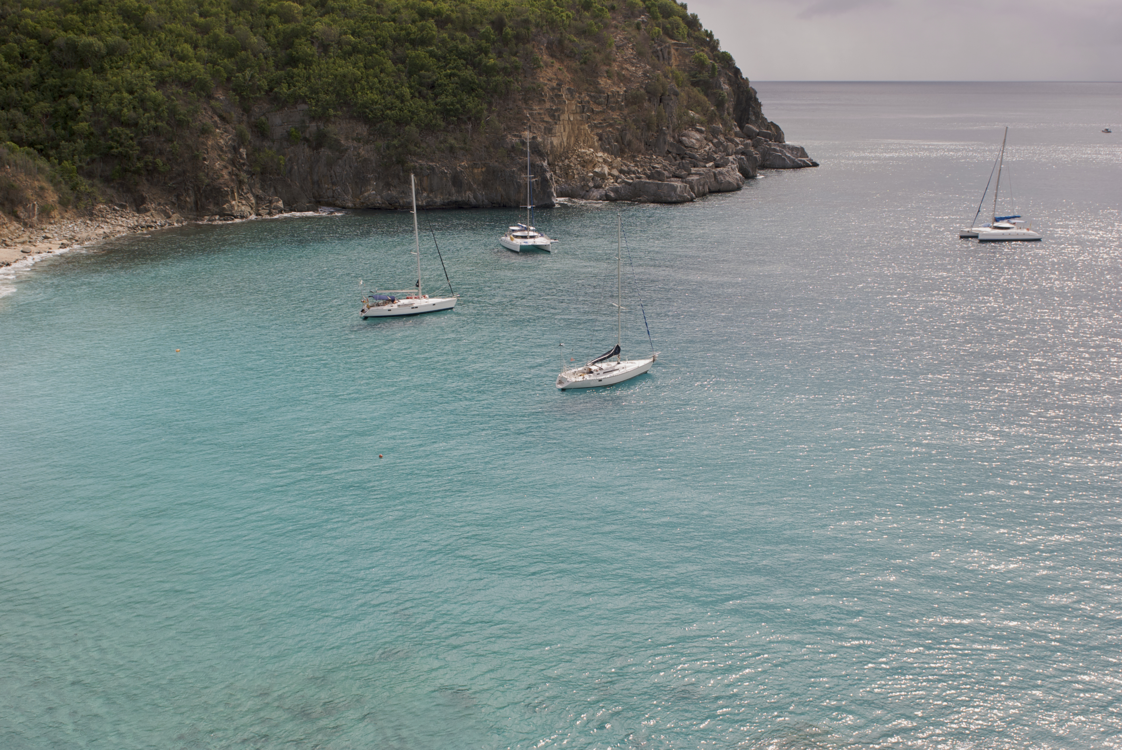 Bay with yachts moored, St Maarten