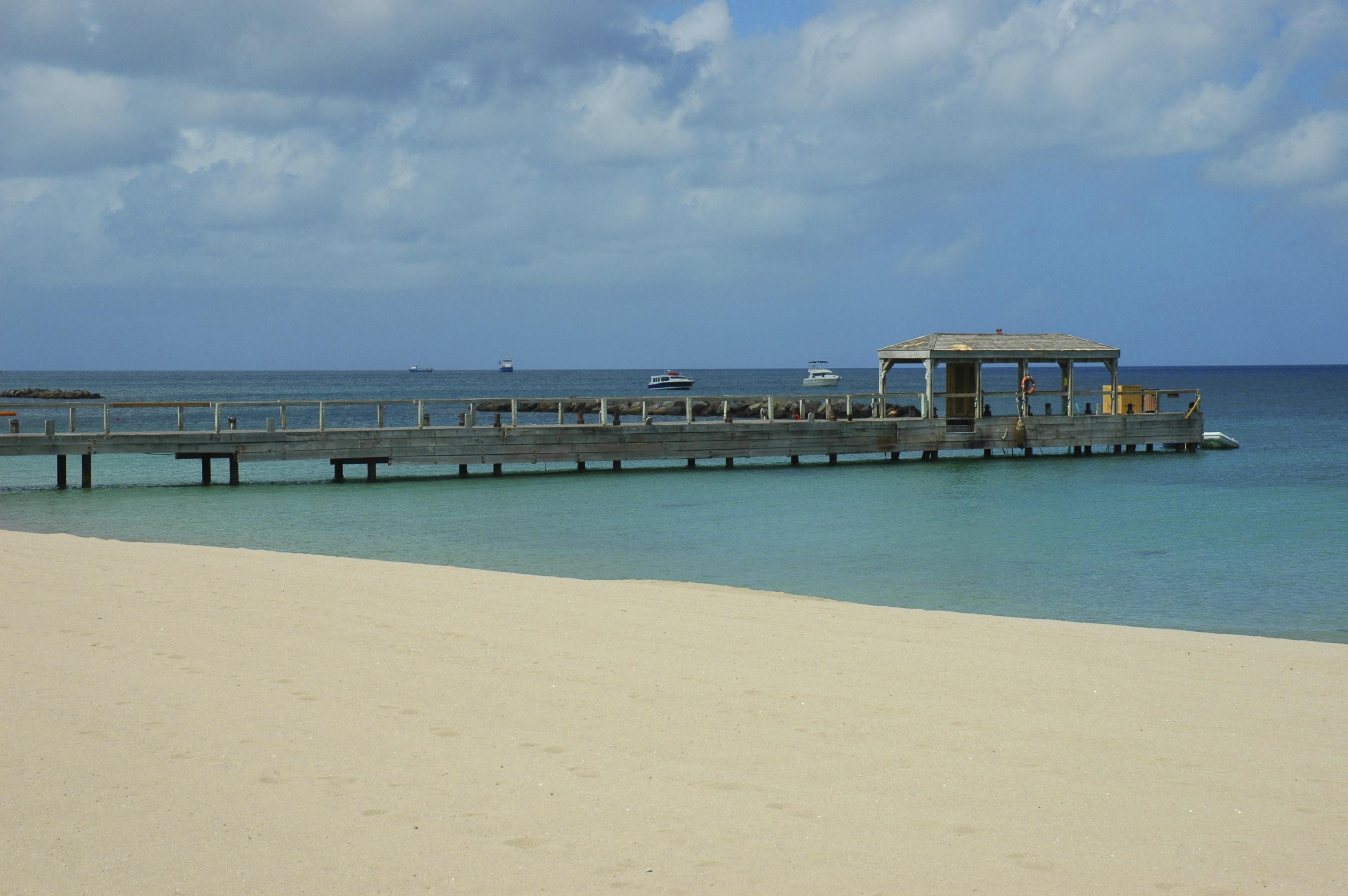 Pier on Nevis Island