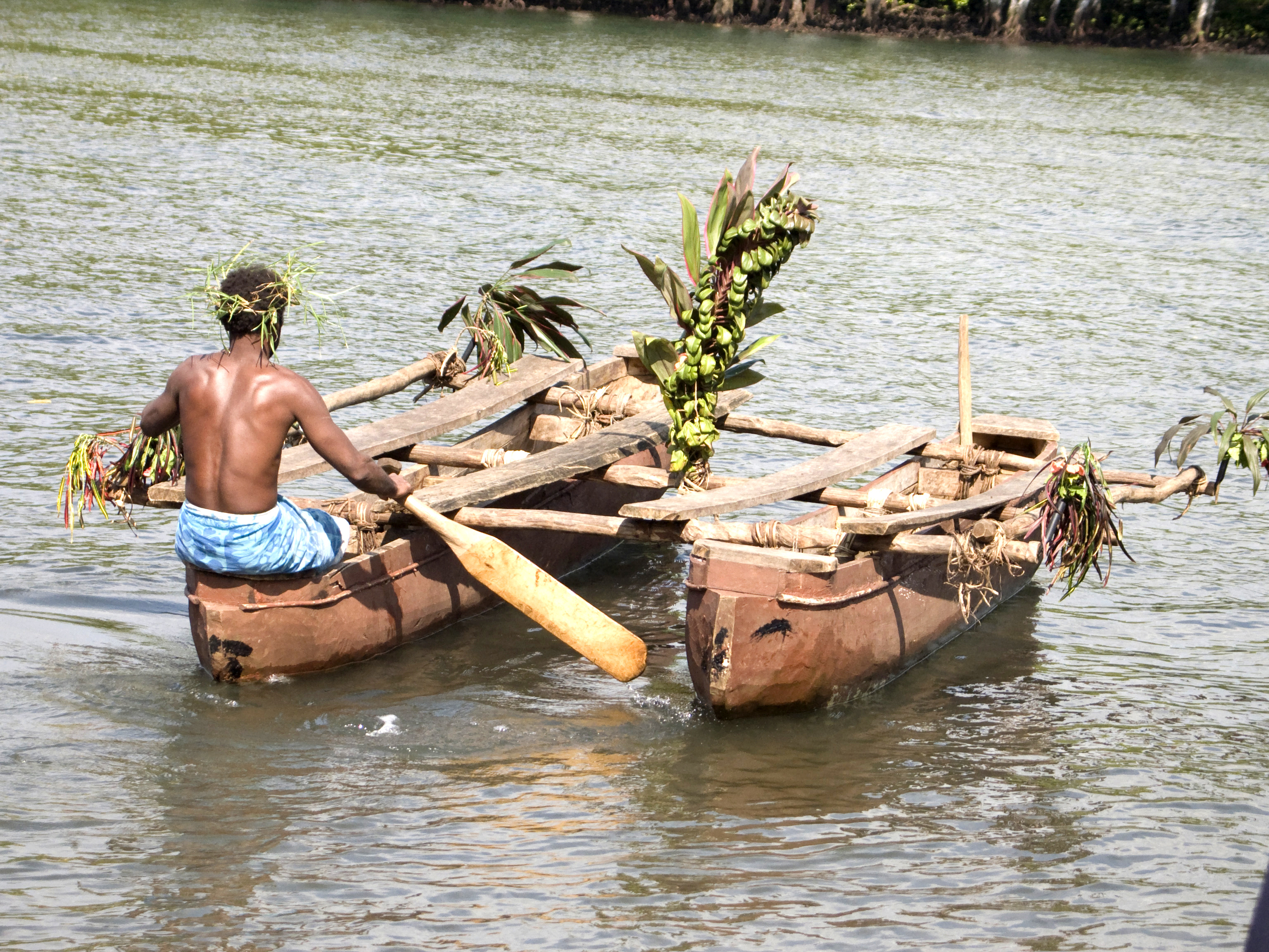 Traditional Outrigger Canoe, Vanuatu