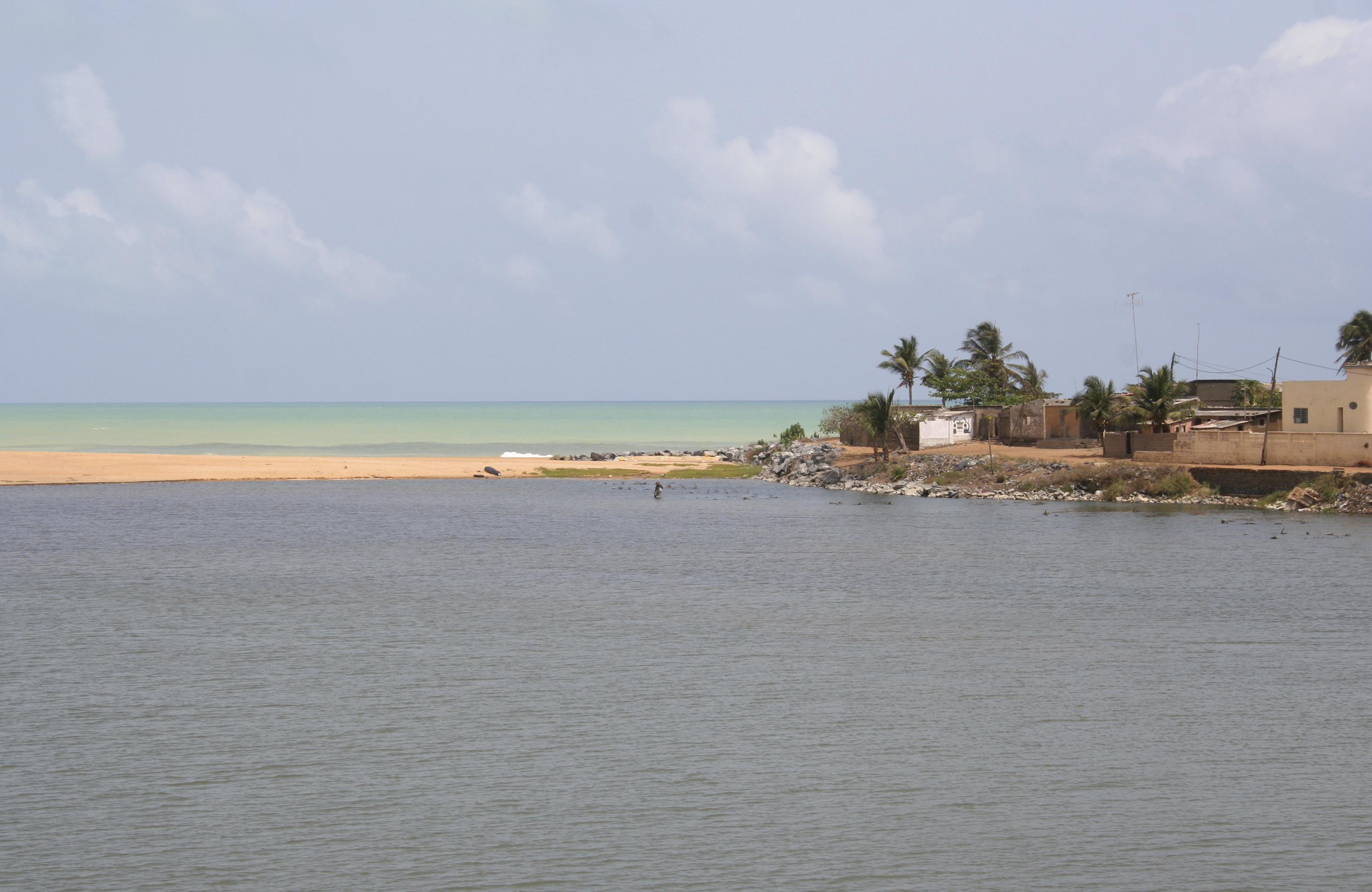 Lagoon and Ocean meeting, Togo