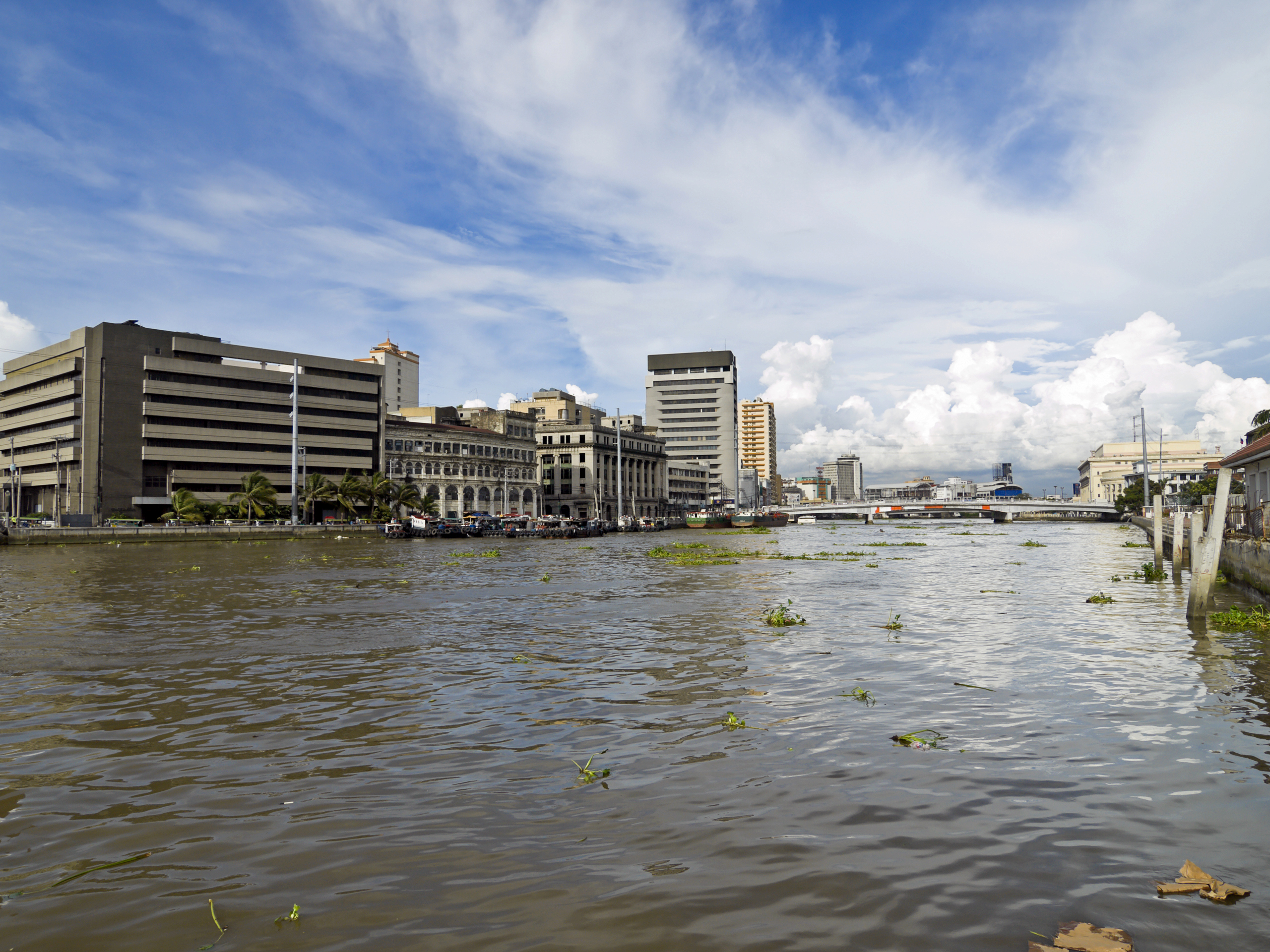 View over Pasig River, Manila, Philippines