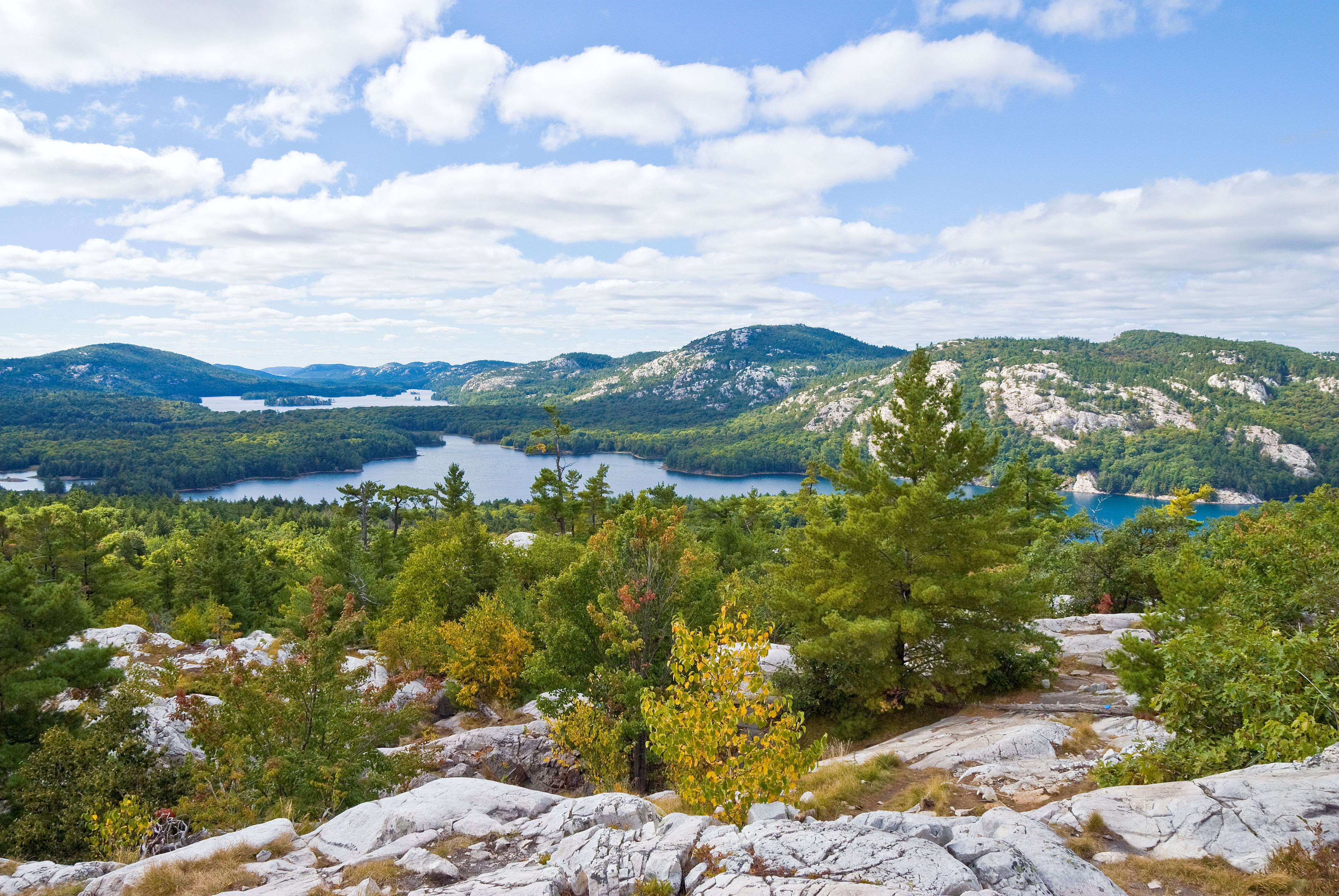 View from mountain top in Ontario