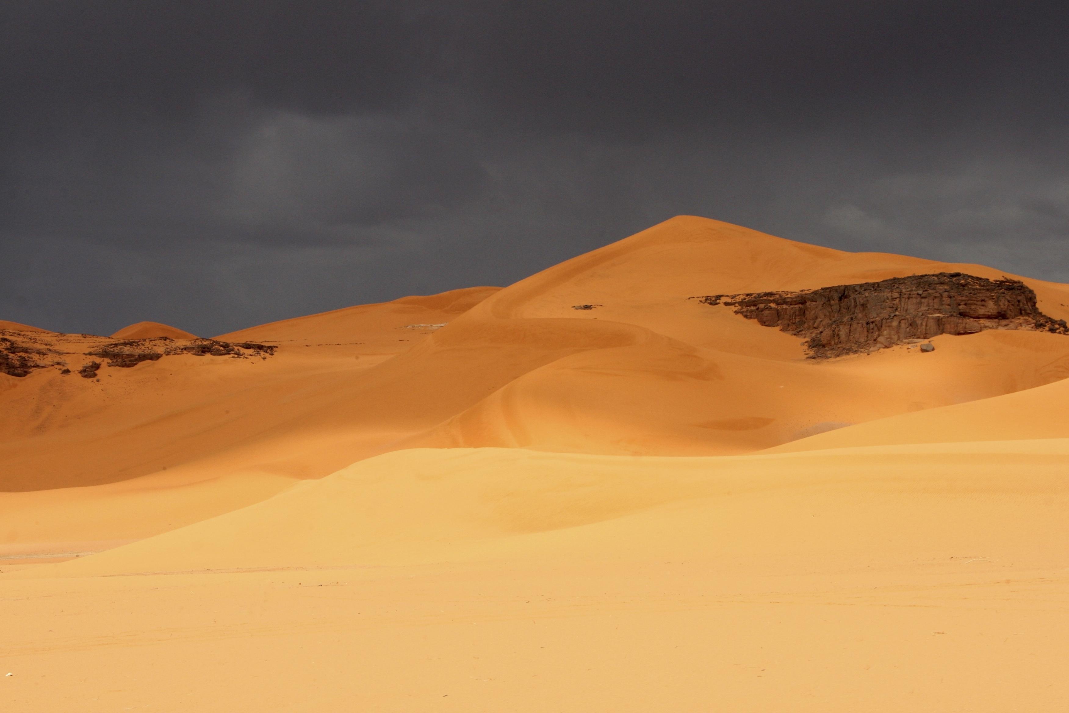 Storm over Algerian dunes