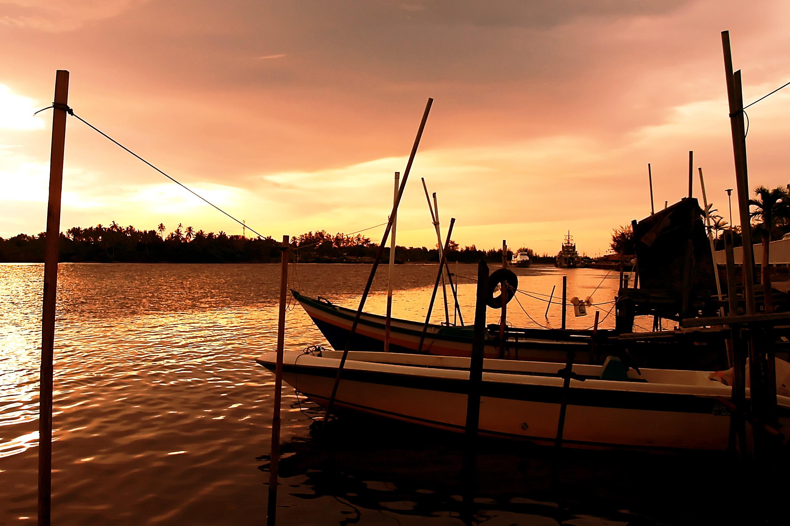River sunset, Brunei