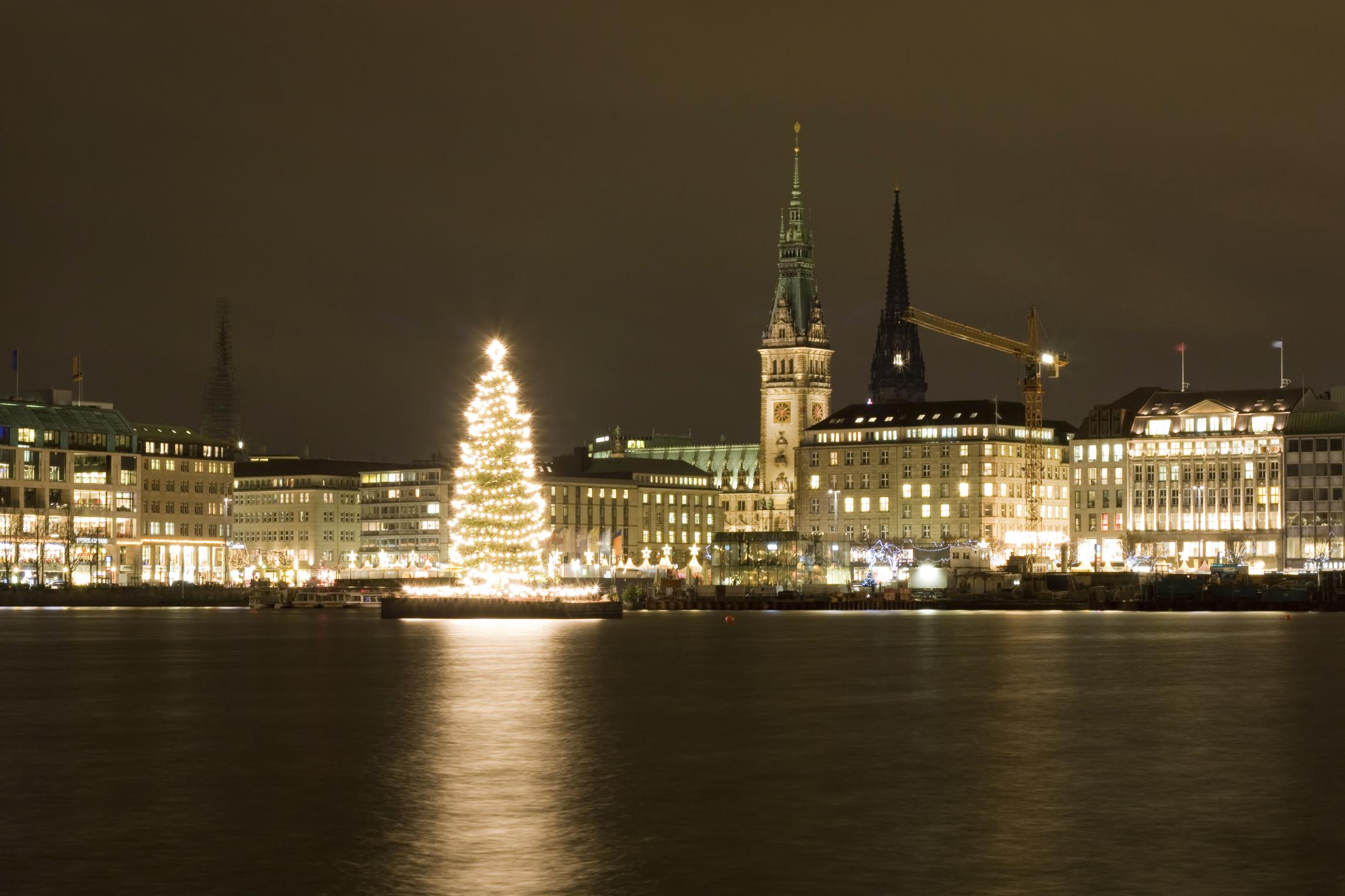 Hamburg during Christmas, Germany