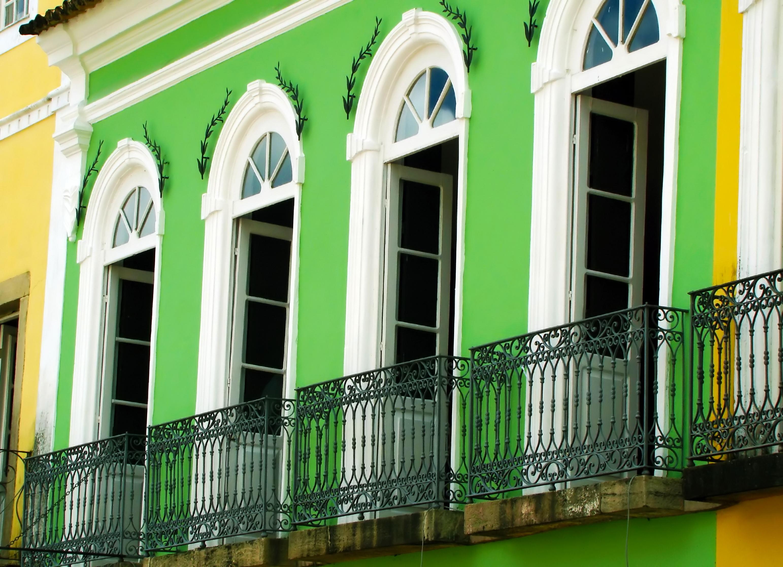 Pastel-coloured home in Salvador, Bahia