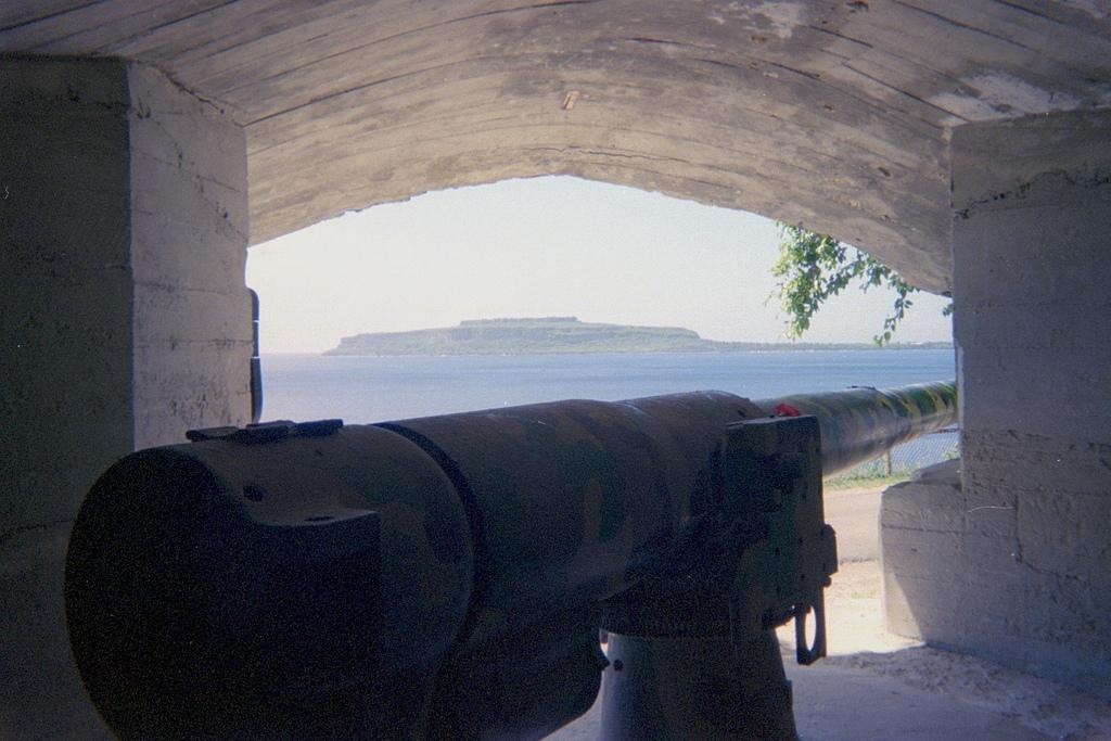 Japanese gun in bukner in Rota, Northern Mariana Islands