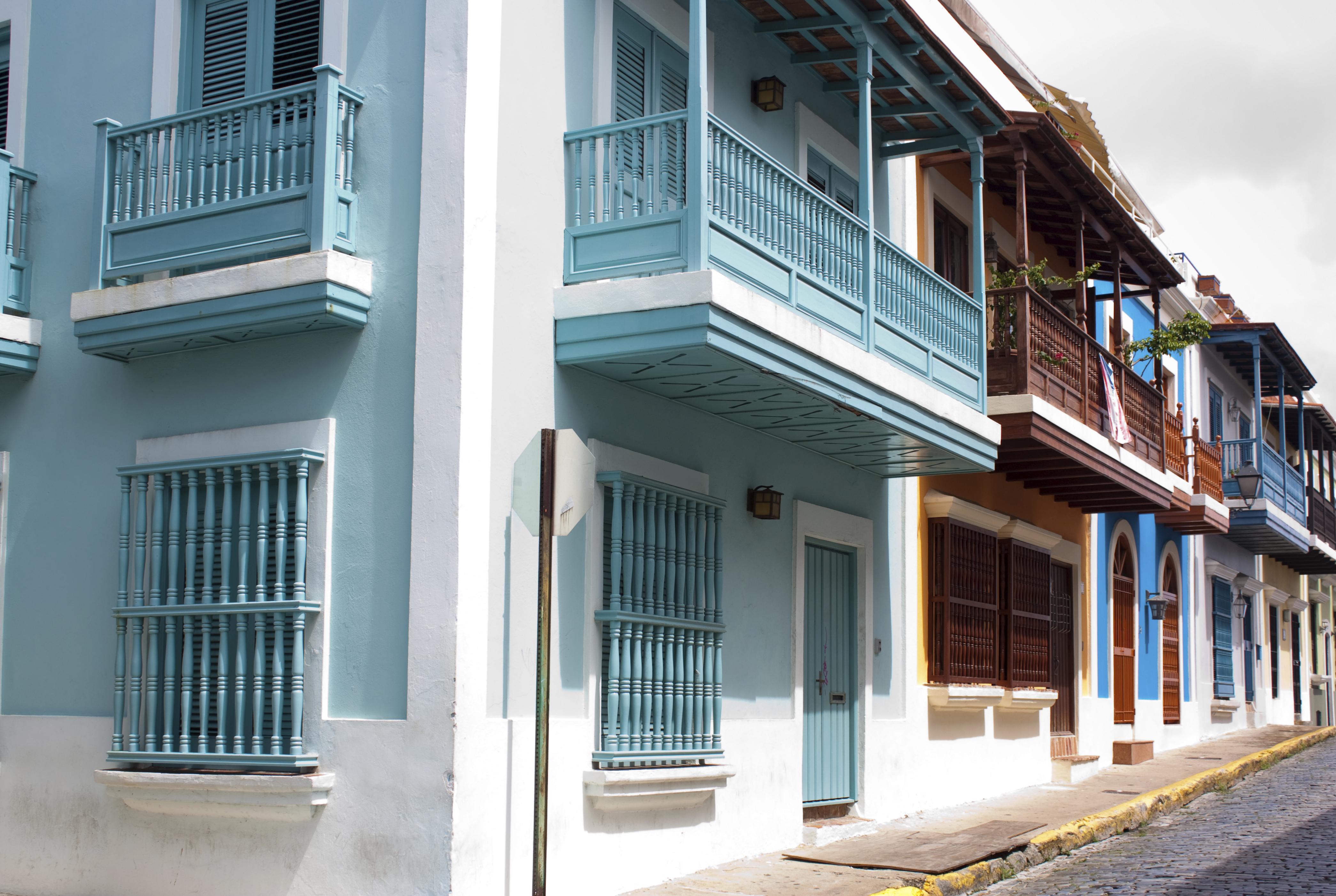 Buildings in Old San Juan, Puerto Rico