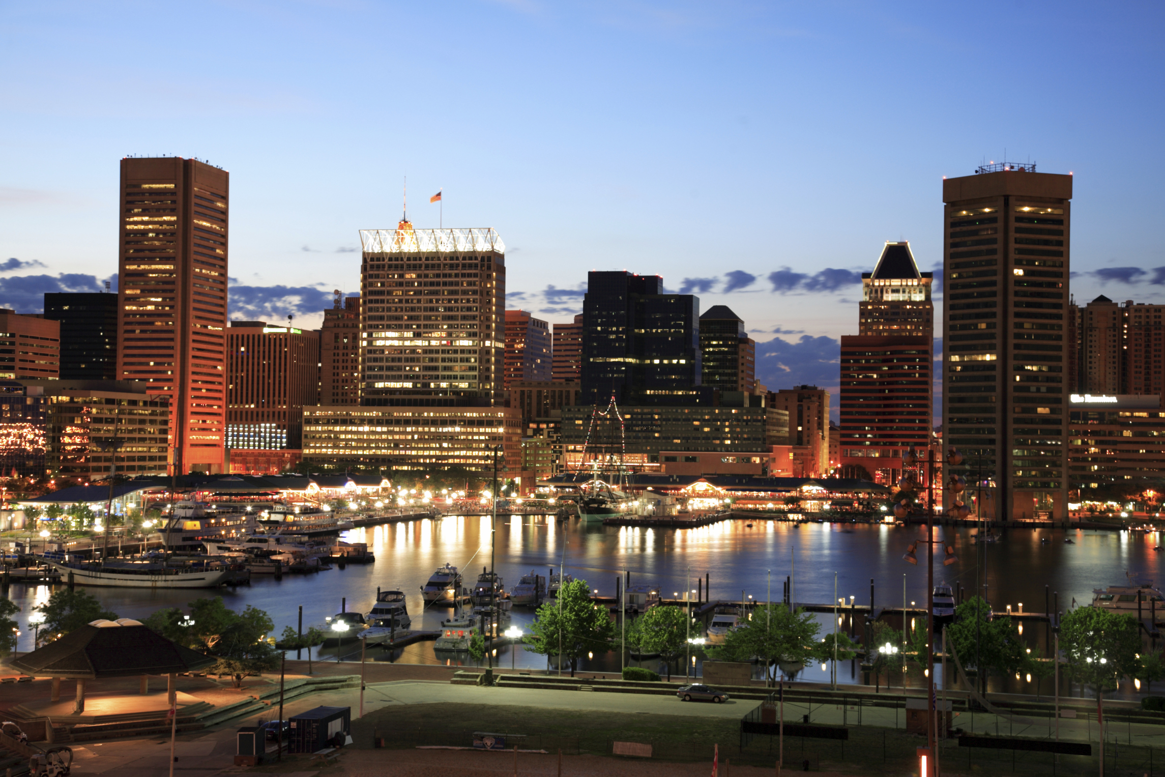 The Inner Harbor of Baltimore, Maryland