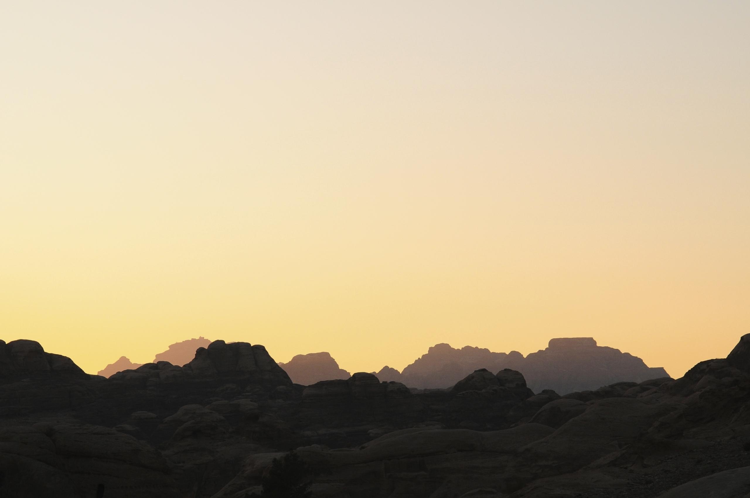 Sunset at Petra, Jordan