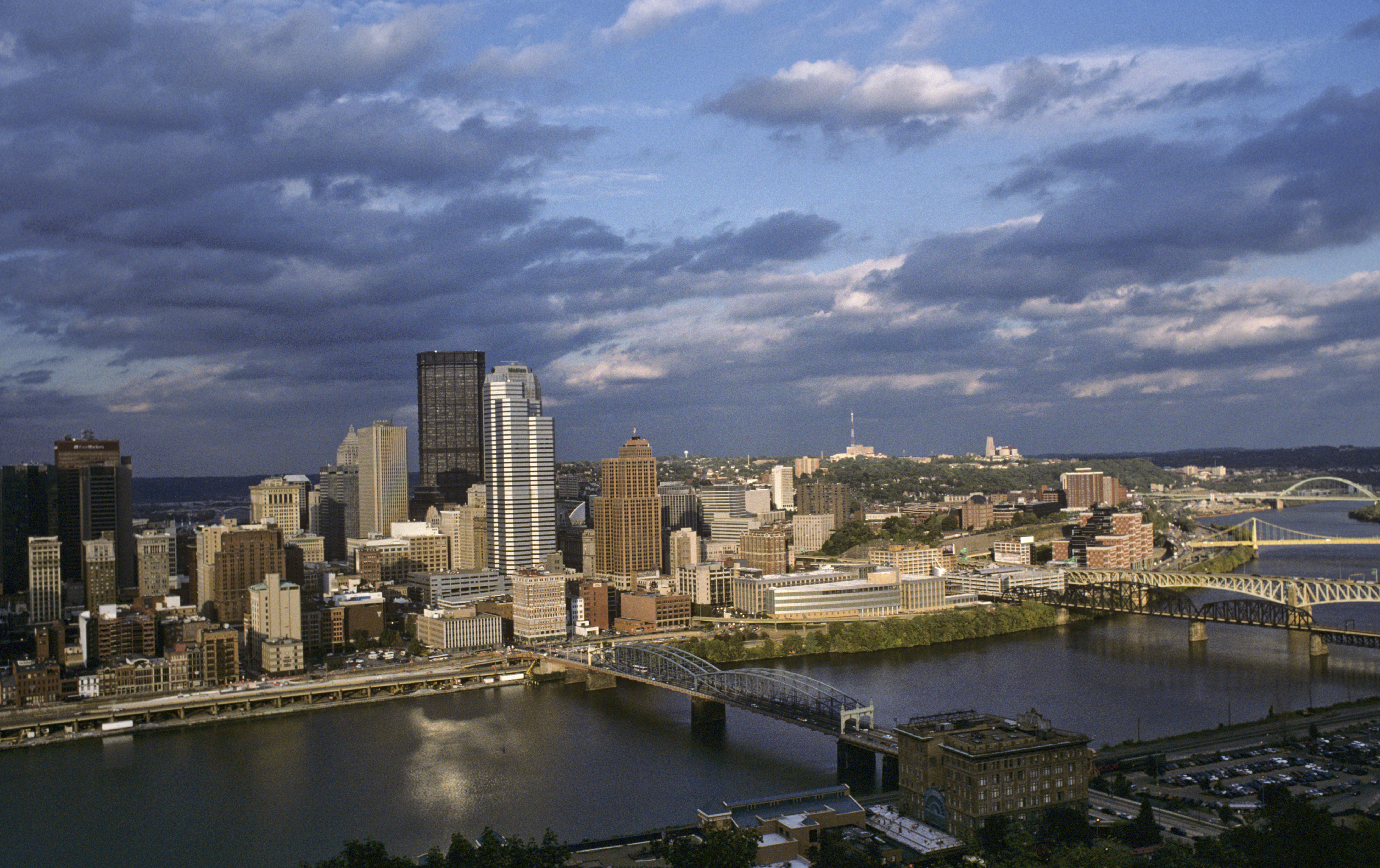 Pittsburgh skyline at dusk, Pennsylvania