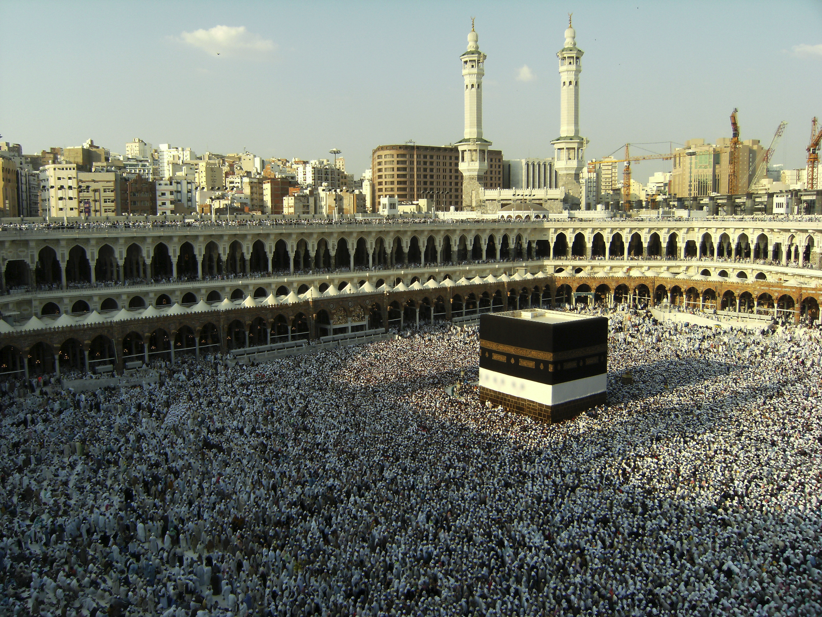 Pilgrims at the Kabbah in Mecca