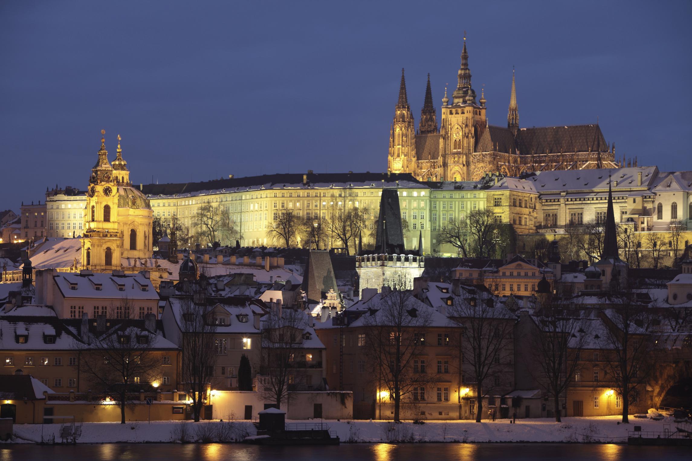 Prague at night, Czech Republic