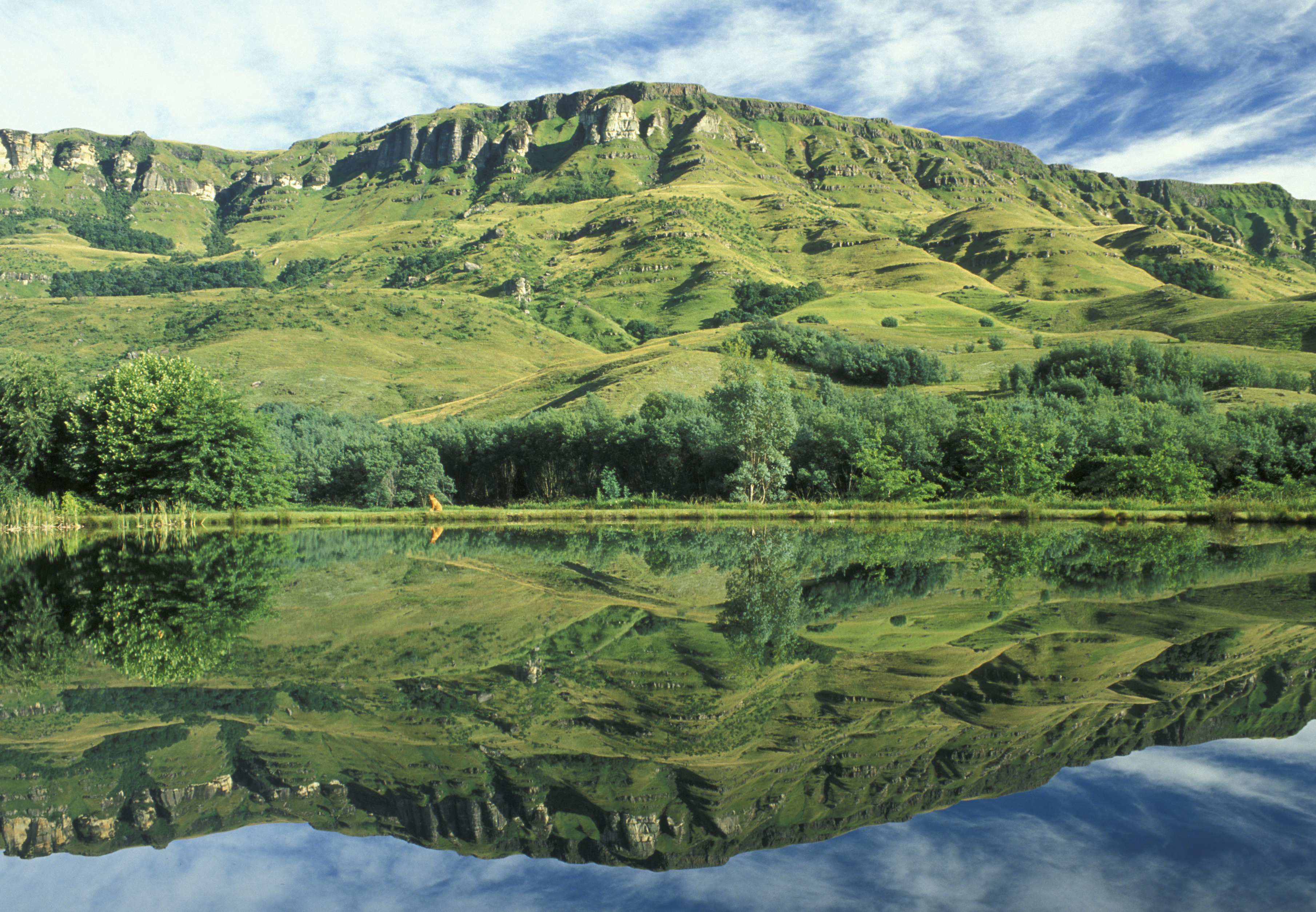 Go hiking in the Drakensburg Mountains in South Africa