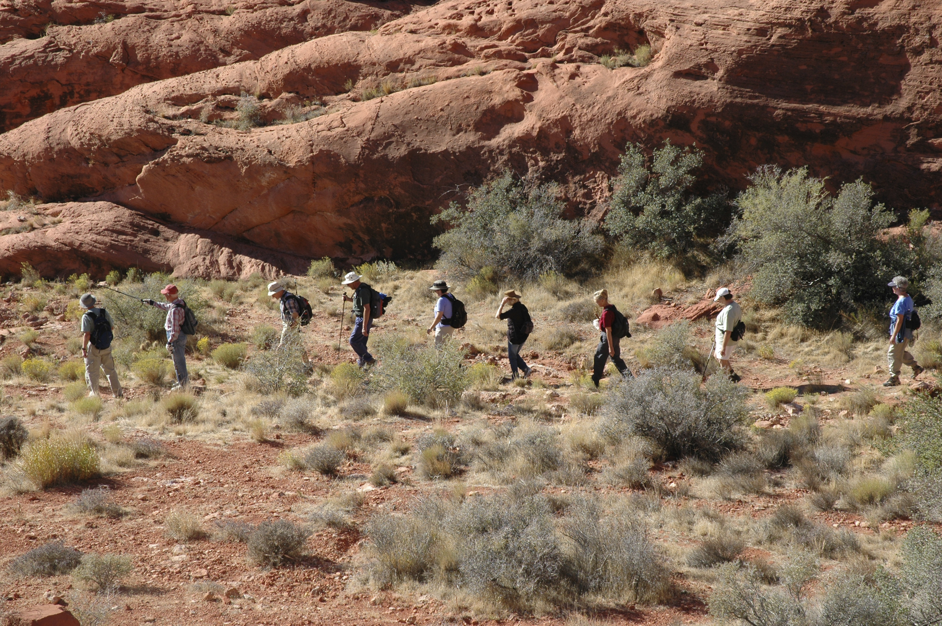 Hikers in Nevada