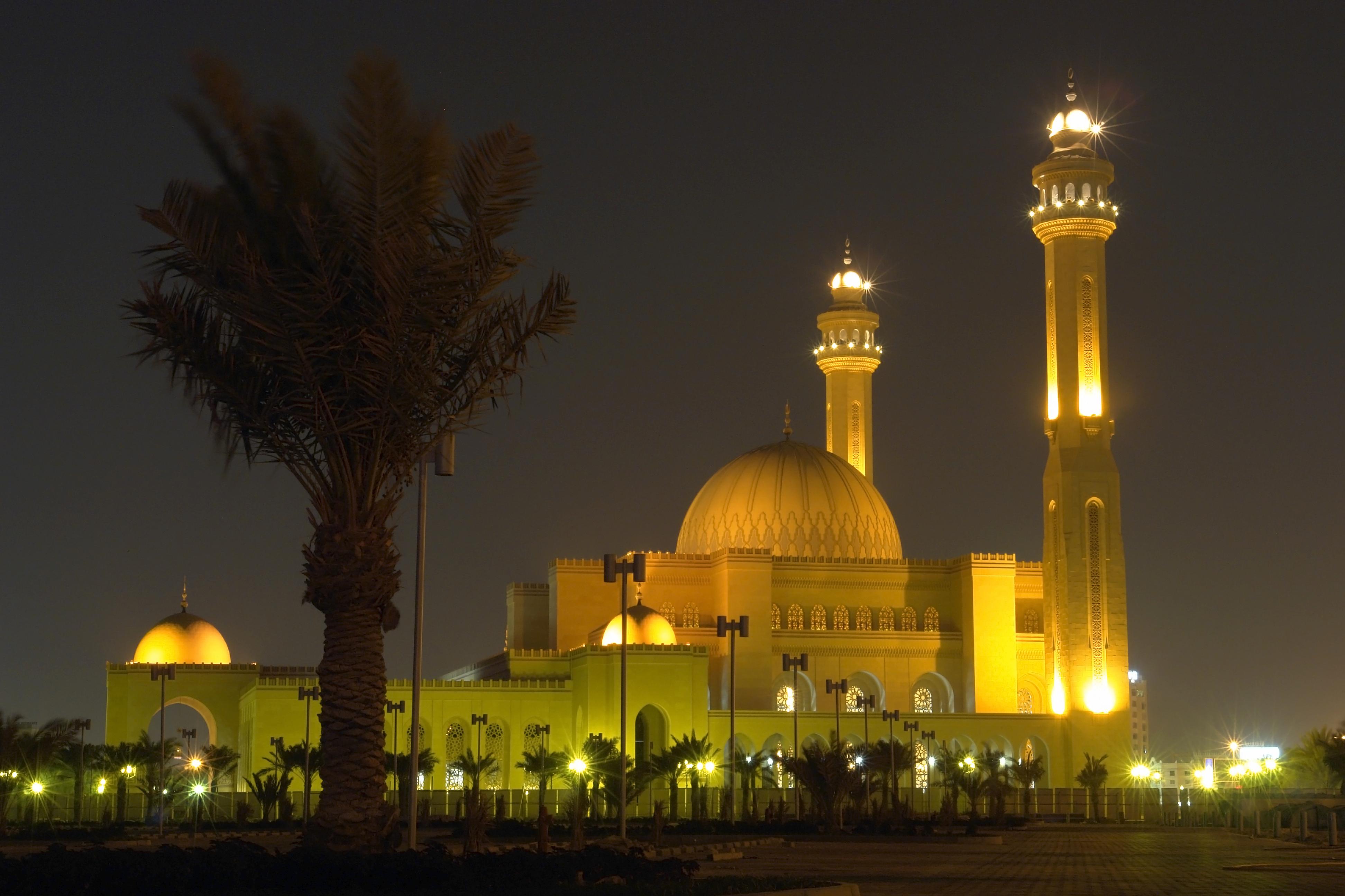 Al-Fateh Grand Mosque at night, Bahrain