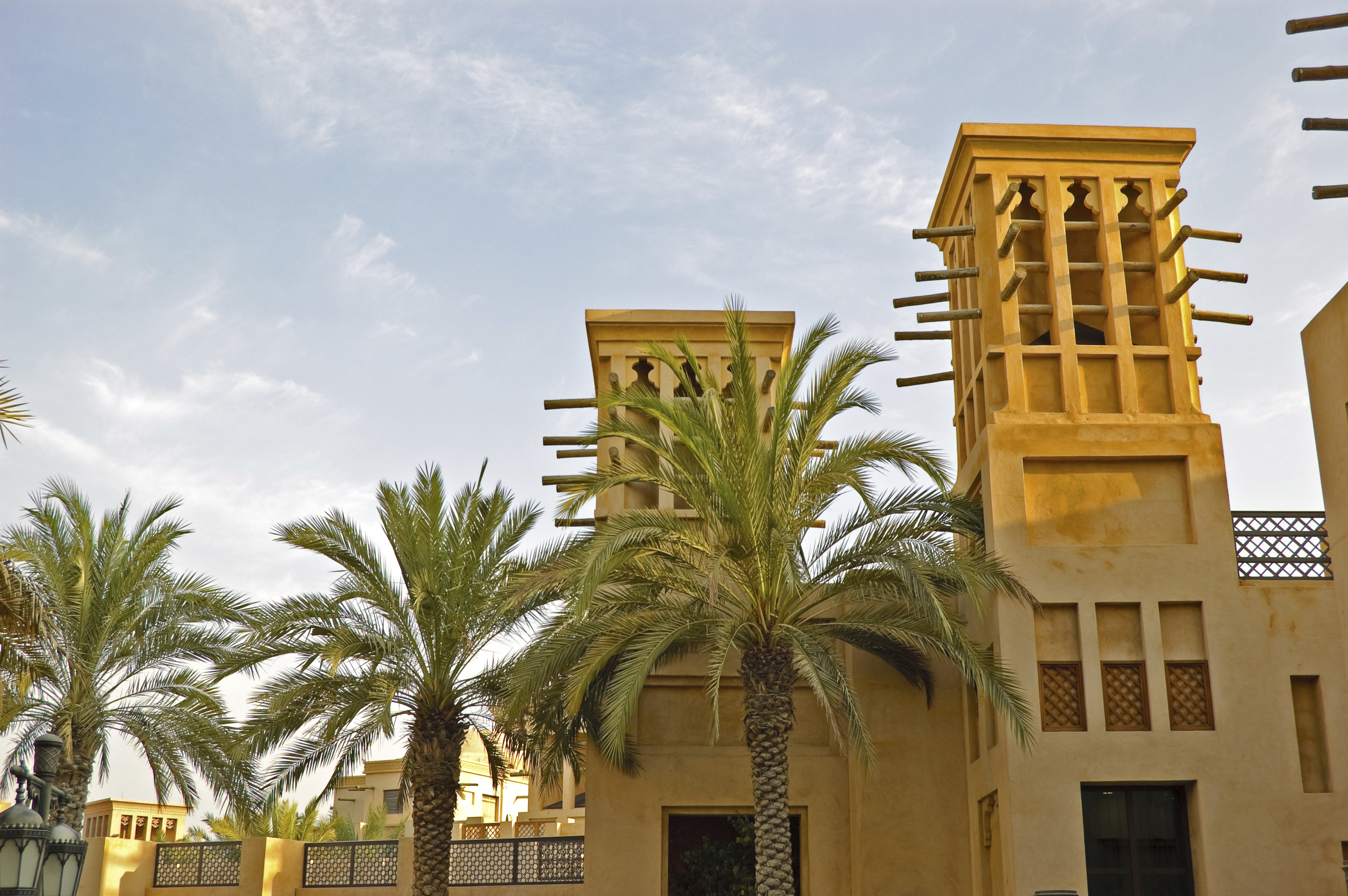 Arabic wind towers, Dubai