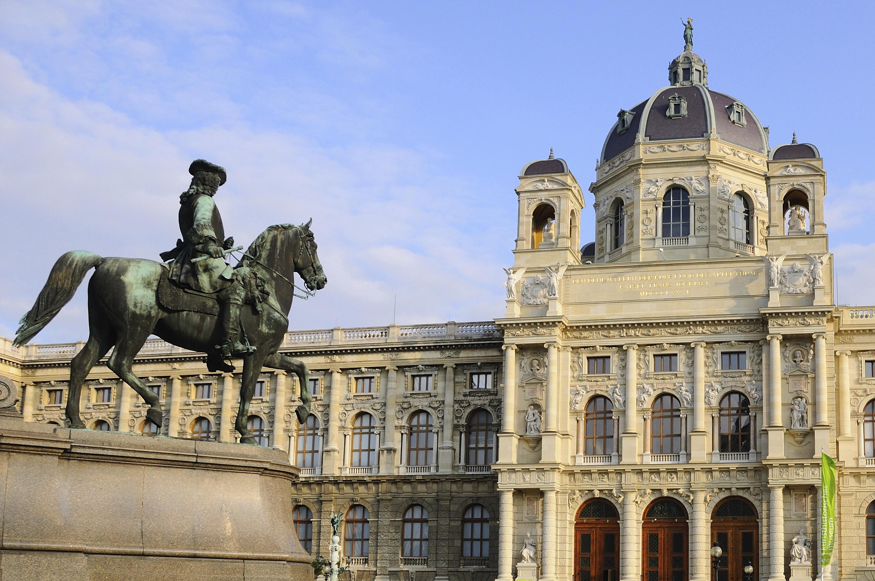 Rider Sculpture in Museum Quarter of Vienna