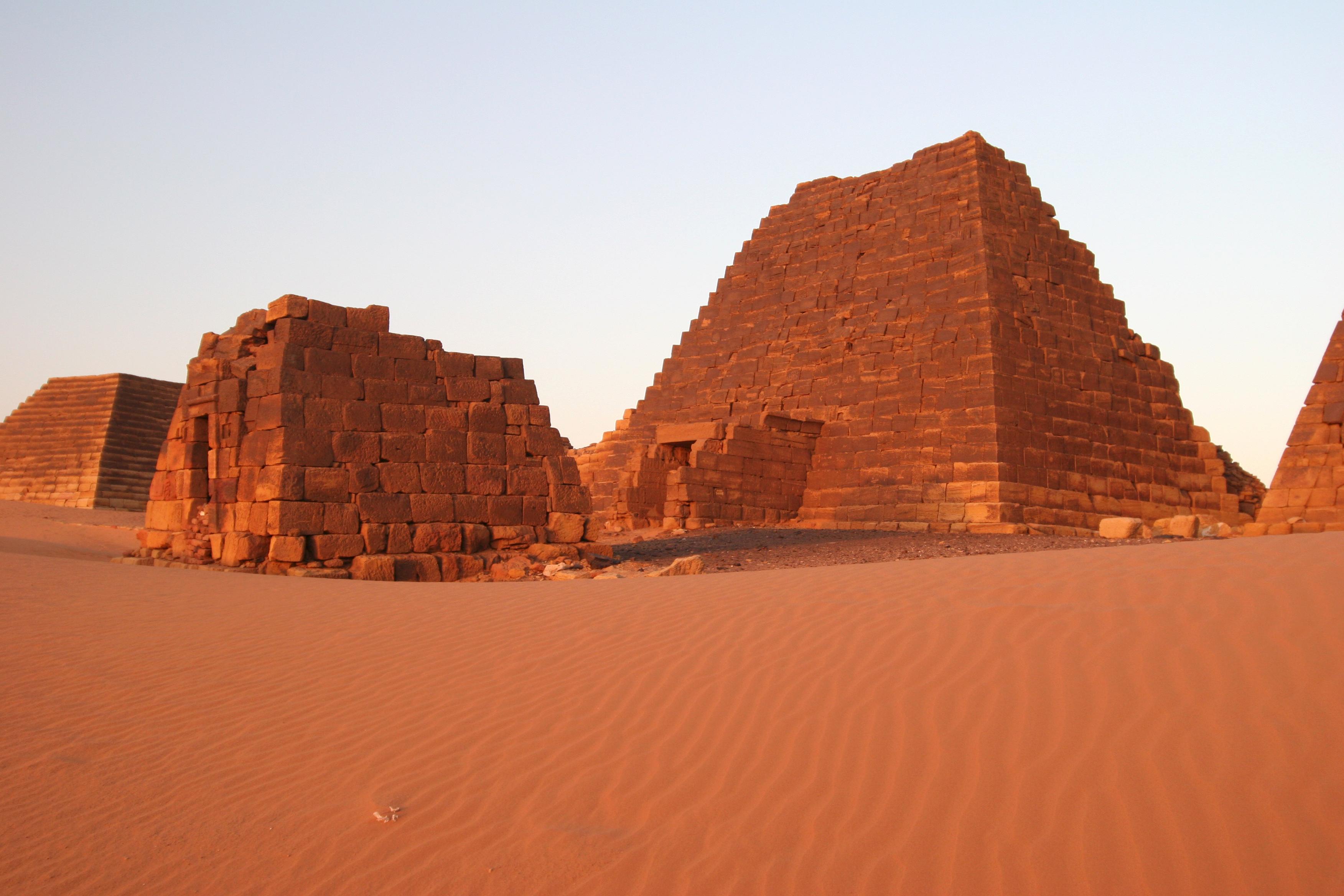 Famed Meroe Pyramids in Sudan