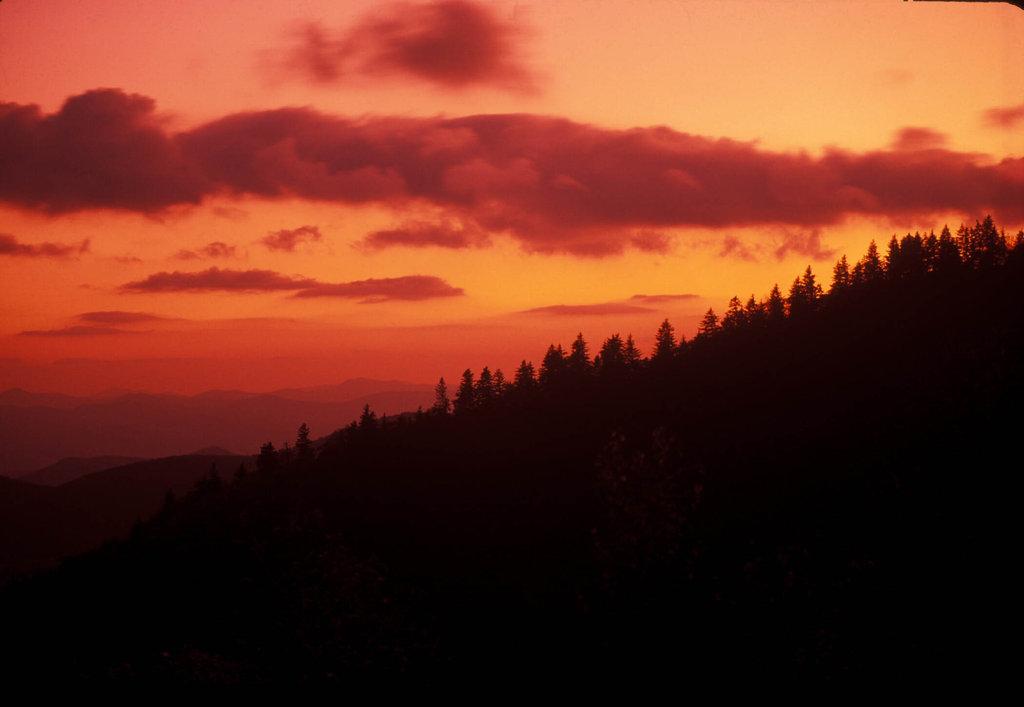Blue Ridge Park at sunset, North Carolina