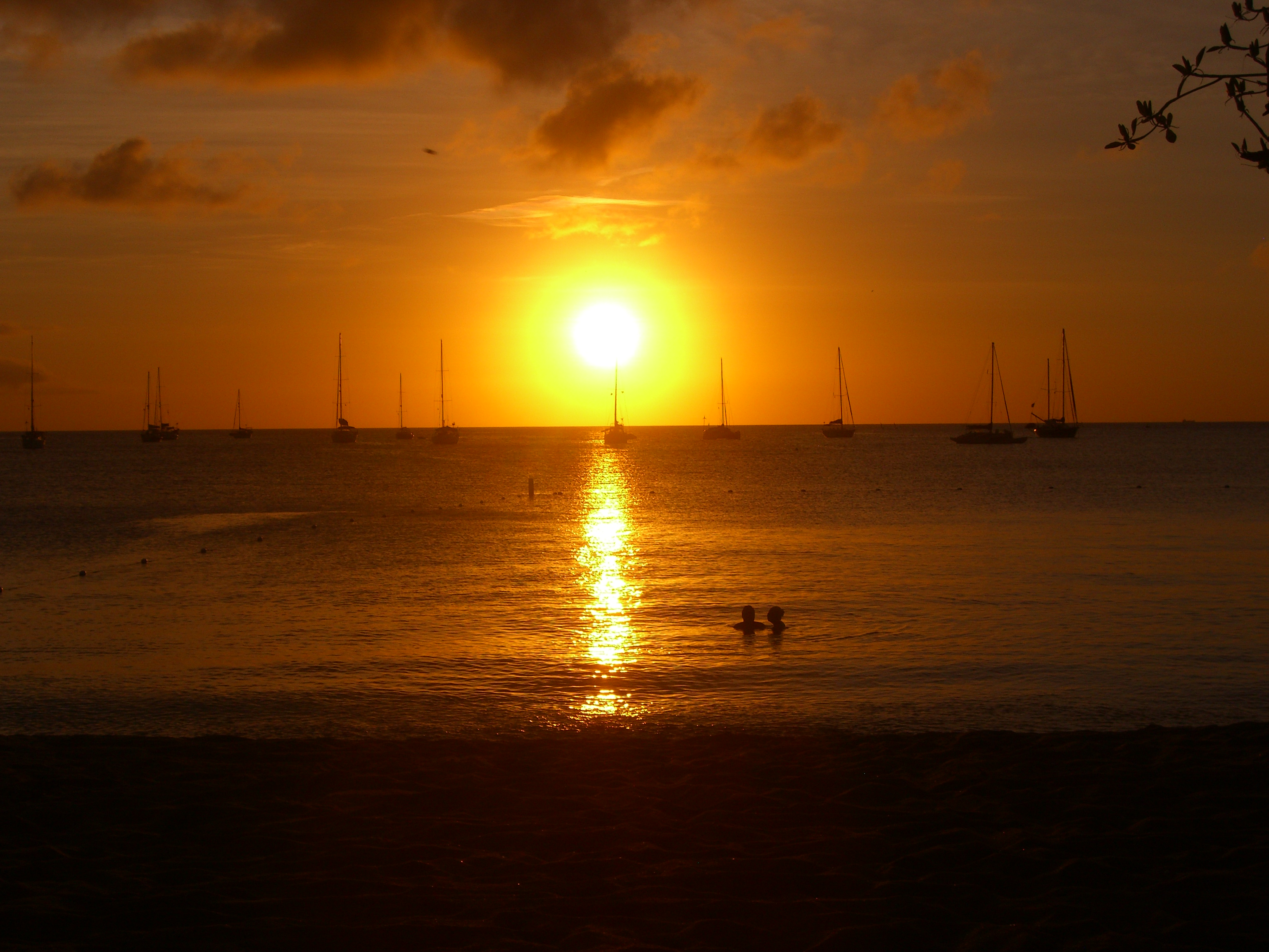 Sunset, Reduit Beach, at Rodney Bay, St Lucia