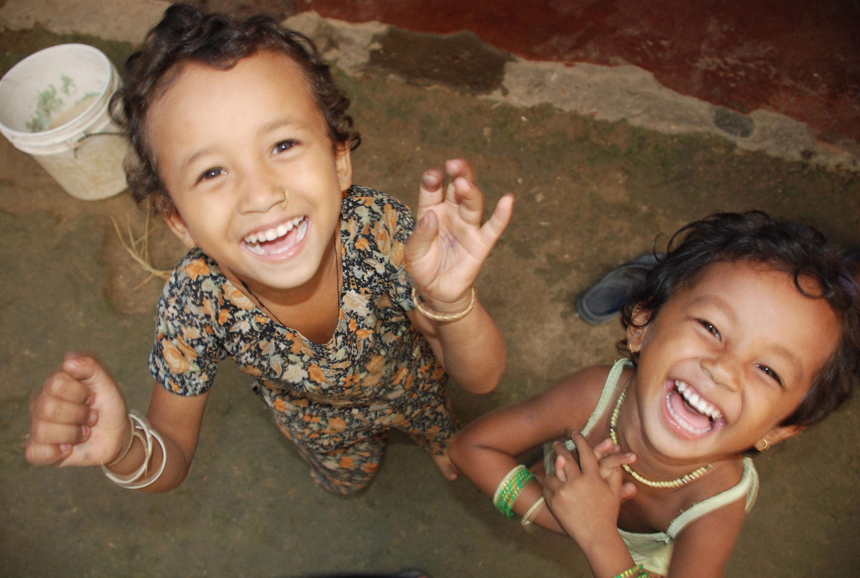Tharu children, Chitwan, Nepal