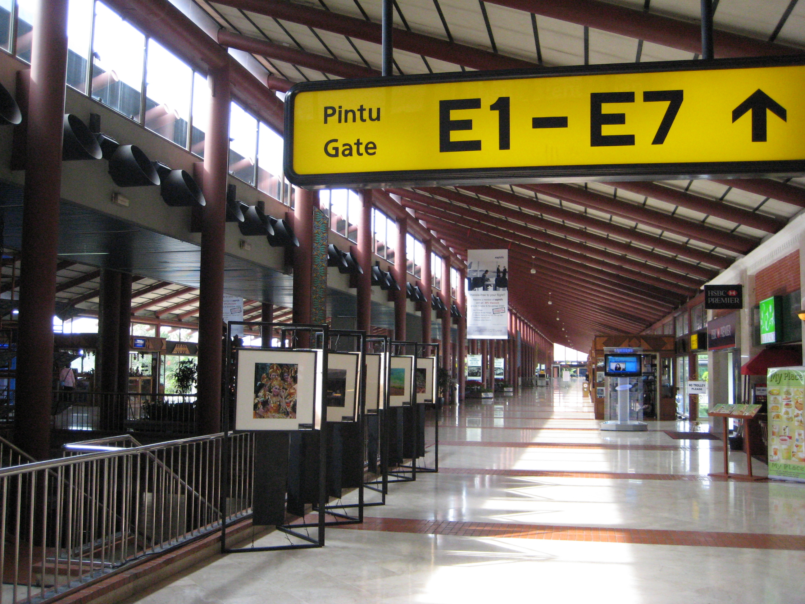 Departures area