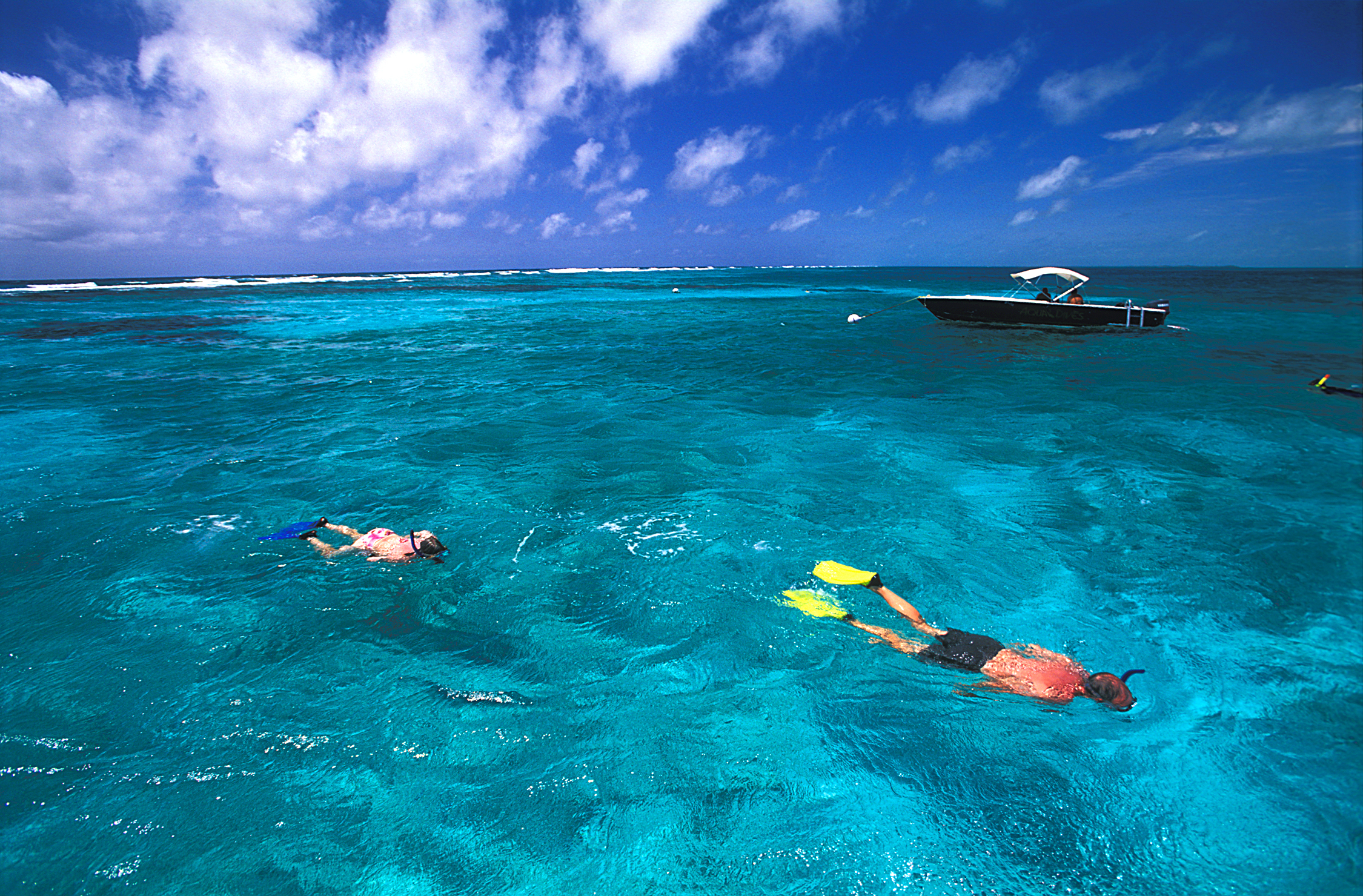 Diving in the azure waters off of Belize