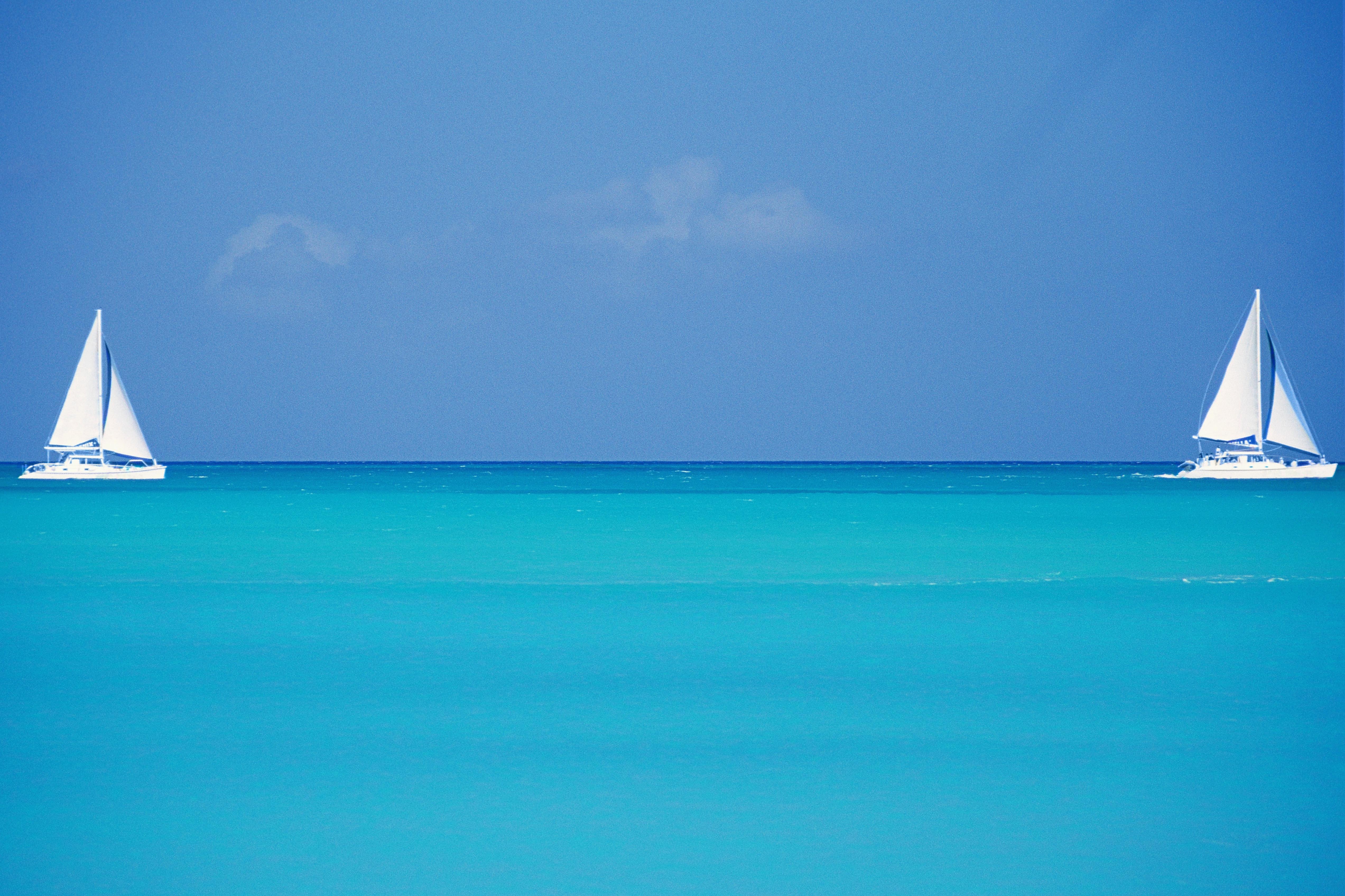 Sailboats, Grace Bay Beach, Turks & Caicos Islands