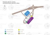 Penang International Airport map