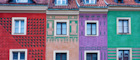 Poznań's colourful townhouses