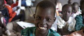 Children at school in South Sudan