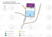 Lal Bahadur Shastri International Airport map